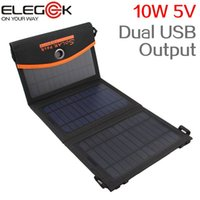 bag with solar panel - ELEGEEK New W V Monocrystalline Folding Solar Panel Charger Dual USB Output Portable Solar Charger with Storage Bag