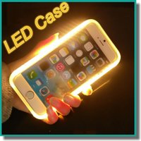 For Apple iPhone Silicone Gold 2017 New LED Light Up Your Face Luminous Case Battery Case Self Case For iphone 7 6s plus Galaxy S7 Edge S6 edge Note 7 With-Retail-Package