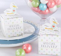 baby shower words - Lovely Duck Favor Boxes Baby Shower Birthday Party Candy Box w Specical Delivery Words Party Supplies