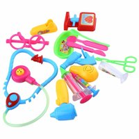 baby emergency kit - 14pcs Baby Kids Doll Accessories Doctor Medical Toy Set Emergency Case Kit Role Play Classic Kids Toys Gift