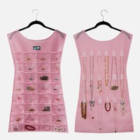 Wholesale 80cm cm Double Sided Jewelry Display Storage Bag Bracelet Earring Ring Pouch Organizer Jewelry Necklace Little Black Dress