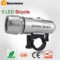 Wholesale Bike Bicycle LED Power Beam Front Cycling Lights Head Light Torch Lamp LED Headlight Headlamp Flashlight Flash light Torch Energy Saving