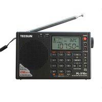 Wholesale TECSUN PL ET World Full Band Shortwave RADIO FM AM MW SW LW DSP Receiver Digital Demodulation Stereo Portable Radio Clock