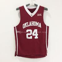 al por mayor escudo bordado-Rev Shield # 24 del compinche de los Rev 30 de los hombres Las ventas baratas del jersey del baloncesto de la escuela # 24 de Oklahoma califican las insignias cosidas 100%
