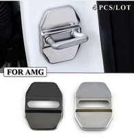 amg steel - car Door lock case for mercedes benz w203 w210 w214 AMG accessories car styling Car covers Car styling Stainless Steel