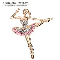 Wholesale Neoglory Auden Rhinestone Fashion Brooches for Women Zinc Alloy Charm Jewelry New Brand BR1