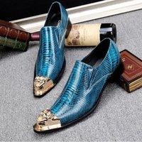 al por mayor clavos clavan el vestido-Moda italiana de lujo de cuero genuino hombres zapatos de vestir hecho a mano Spikes Stud Patry boda zapatos de los hombres zapatos formales más de tamaño 46