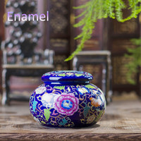 antique seal bottles - Jingdezhen Antique Enamel Ceramic Tea Jar Tea Caddy Canister Portable Travel Storage Bottles Sealed Tank Jar Food Candy Jar