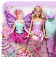 5-7 Years baby changing box - New Pink Closet Wardrobe for Barbie DollBarbie doll mermaid change group mermaid princess baby girl gift box series toys