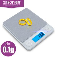 Wholesale New Arrive Kitchen scales Mini pocket portable stainless steel precision jewelry electronic Balance weight gold grams gx0 g