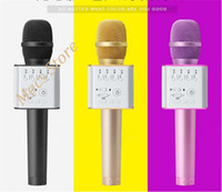 best microphone computer - Drop shipping Best Q9 KTV Karaoke Bluetooth Speaker for android ios Mini Microphone Q9 Portable Speaker Wireless Microphone with Mic PK Q7