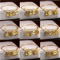 anchor flowers - Bangle Bracelets Alex and Ani Antique Gold Plated Charm Bangles Women New Brief Alloy Anchor Love Sun Flower Bangles Jewelry BR437