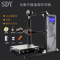 Wholesale Pro New Upgrade desktop D Printer Prusa i3 Size mm Acrylic Frame LCD Kg Filament G TF Card for gift big main board