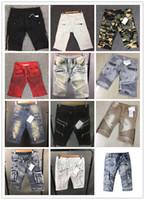 Wholesale Pierre New Classic Shorts Jeans for Men Shorts Runway True Biker Straight Skinny Denim Short Cowboy Slim Designer Robin Mens Joggers Pants