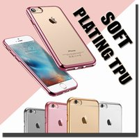 silicone gel - Ultra Thin Gel Electroplating Soft TPU Skin Silicone Cover Case For iPhone Plus SE S S Samsung Galaxy S7 S6 edge Note MOQ