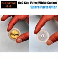 achat en gros de l'électrovanne de gaz-TIPTOP Co2 Jet Machine Bleu Couleur Vanne de gaz Blanc Couleur Joint Joint solénoïde Vanne de gaz Pièces de rechange Joint en cuivre Matériaux en plastique