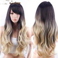 beauty wave long - New Product Female Long Wavy Wig Heat Resistant Cheap Cosplay Wigs For Beauty Girl Lolita Wig With Side Bangs