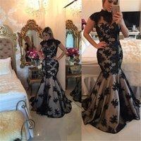 2017 el nuevo negro apela el vestido de noche de los vestidos del baile de fin de curso de los vestidos del baile de fin de curso de la sirena de los vestidos de noche formales de la longitud del piso