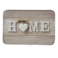 Wholesale CHARM HOME Letter Home Style Print Doormat Non slip Pad kitchen Room Carpet Mats Tapis Pastoral Water Absorption Mat23