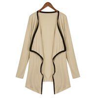 asymmetrical belted coat - Fashion Womens Long Sleeve Irregular Hem Cardigan Female Long Knitting Sweater Asymmetrical Poncho Sweater Outerwear Coat