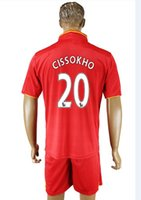 Wholesale England Soccer Uniform Kit Mane Lallana Cissokho in Black Green and Red Colors Customerized Jerseys available
