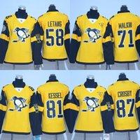 Lady Hockey Jerseys Stadium Series Pittsburg 58 Kris Letang 71 Evgeni Malkin 81 Phil Kessel 87 Sidney Crosby à broder les maillots à broder
