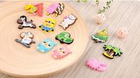 Wholesale DHL Cute animal Fridge Magnet colorful sticker for decoration fridge and furniture mix color cm