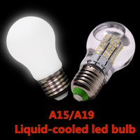 Wholesale Hot E27 liquid cooled led light bulbs A15 A19 w w w w led light lm w super bright AC V V led bulbs