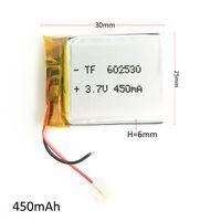 achat en gros de batteries au lithium-ion gros-Vente en gros 450mAh 3.7V lithium polymère LiPo batterie rechargeable cellules li ion puissance pour Mp3 Mp4 PAD DVD bricolage e-book bluetooth appareil photo 602530
