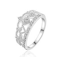 Compra Piedras preciosas conjunto de plata de ley-Anillo de bodas de plata esterlina anillo de dedo anillo de bodas mujeres, la boda de piedras preciosas blancas 925 anillos de plata Solitaire Anillo Anillos de boda ER469