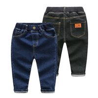 Wholesale 2017 kids clothes kids clothing boy Children s pure color contracted European and American cowboy pants panty trousers