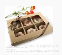 Wholesale High grade corrugated window grain moon cake box box of moon cake packaging box of cookies pastry