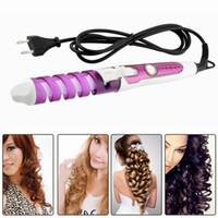 Wholesale Electric Magic Hair Styling Tool Rizador De Pelo Hair Curler Roller Pro Spiral Curling Iron Wand Curl Styler eu plug