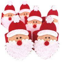 al por mayor cero anillos-Venta al por mayor-Zero 6pcs Navidad Papá Noel Servilleta Anillos Servilleta Servilleta Servilleta Navidad