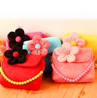 Wholesale Children s Bags Kids Hangbags Girls Bead Chain Messenger Bag Baby Flower handbag Lace bags