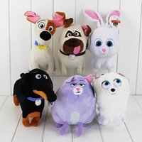Wholesale cm The Secret Life of Pets Snowball Gidget Mel Max Chloe Buddy Soft Stuffed Plush Doll Toys For Kids Gift