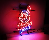 Wholesale New HIGH LIFE Neon Beer Sign Bar Sign Real Glass Neon Light Beer Sign ME cleveland indians coors light x12