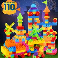Wholesale 110PCS SET Mini Building Blocks Figures for Boys Girls Educational Learning Block Toys Multicolor BUILDING BLOCKS Bricks