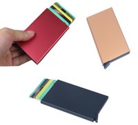 Wholesale Thin Metal Rfid Card Protector Slim aluminum Credit Card holder Wallet Case Cards Slide Out Gradually
