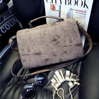 Wholesale New arrival Hot Sale Women Retro Korean Stereotypes M Handbag Shoulder Diagonal bag Small square bag Women Messenger Bags