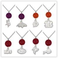 baltimore gift - 20pcs Shambala Beads ers Vikings Bills Baltimore Football Team Logo Pendant Necklace Fans Gifts A111229