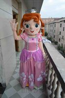 Cheap Lovely Princess Sofia Frozen Princess Anne Puzzle Pink Character Mascot Costumes Adult Size Sophia Suit free shipping