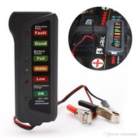 Wholesale 12V Digital Battery Alternator Tester With LED Lights Display Indicates For Car Motorcycle Truck battery testers