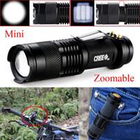 Nueva mini linterna 2000 lúmenes CREE Q5 LED antorcha AA / 14500 ajustable zoom de la antorcha de la lámpara de la linterna linternas portátiles Linternas portátiles
