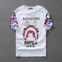 Wholesale Tide Brand Men And Women Lovers Dress Short Sleeve Superior Quality Shark T shirt for Pity t shirt fashion tshirts Men s Clothing
