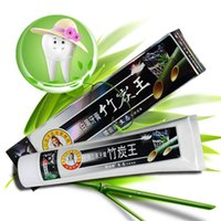 Wholesale black bamboo toothpaste New Bamboo Toothpaste Charcoal All purpose Teeth Whitening Black Toothpaste g