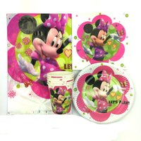 Wholesale Mickey Minnie theme kids favors gift birthday party decoration plate cup napkin tablecloth for people child party supplies
