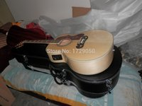 Wholesale Free Hardcase classical model High Quality sj natural acoustic guitar with fishiman EQ in Real photos