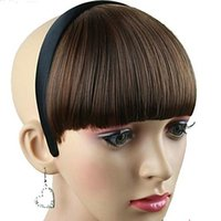 Wholesale High Quality Synthetic Inch Hairpiece with Hair Band Colors Available