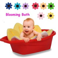 Wholesale New Blooming Bath Baby Bath BLOOMING SINK BATH FOR BABIES BLUE INFANT FLOWER CUSHION